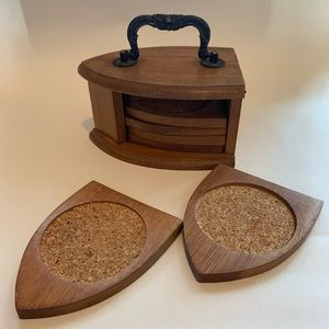 Vintage Kitchen - Wood coasters set of 6